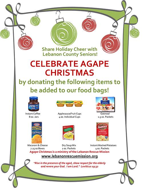 Agape Christmas - Ways to Help Flyer
