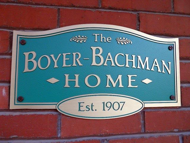 Boyer Bachman Home sign