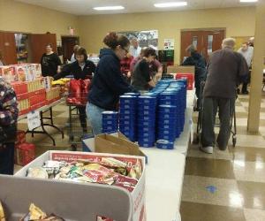 Busy volunteers