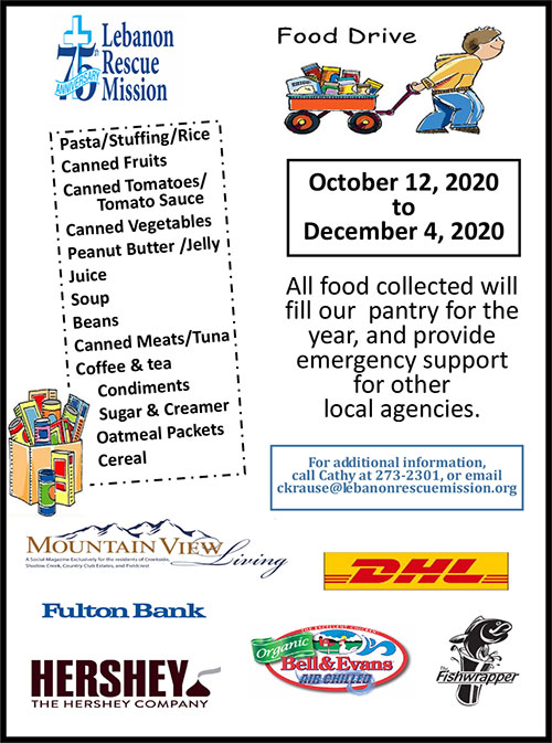 2020 Food Drive Flyer
