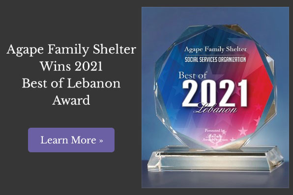Agape Family Shelter Wins 2021 Best of Lebanon Award