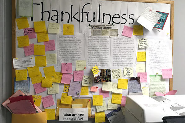 Thankfulness Bulletin Board